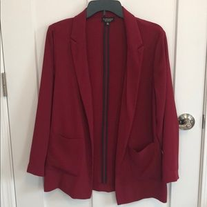 Red Topshop lightweight Blazer